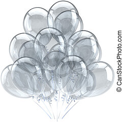 Party balloons white translucent