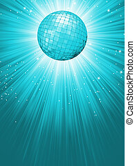 Party Banner with Disco Ball. EPS 8