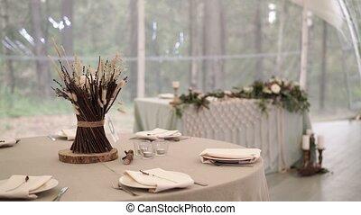Party banquet decoration in restaurant