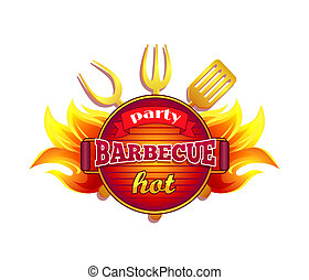 Party Barbecue Hot BBQ Icon Vector Illustration