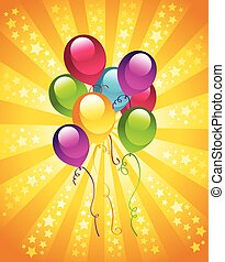 Party birthday balloons