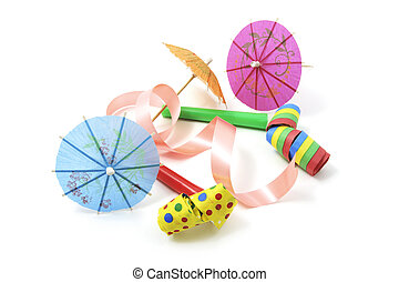 Party Blowers and Cocktail Umbrellas