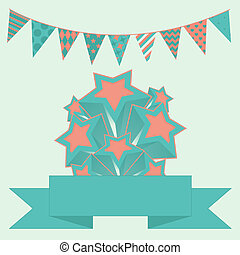 Party bunting background with stars