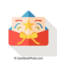 party card flat icon