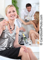 party, champagner