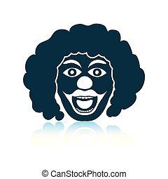 Party clown face icon