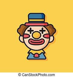 party clown vector icon