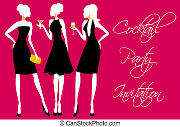 party, cocktail, einladung