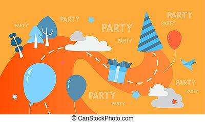 Party concept illustration