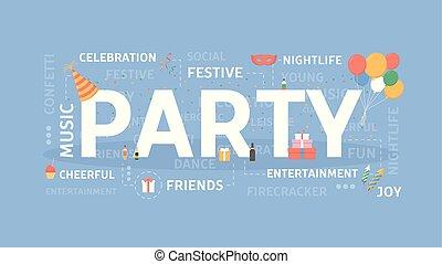 Party concept illustration.