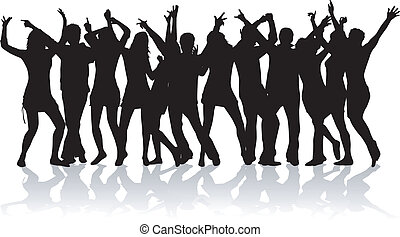 party, crowd, design