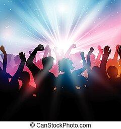 party, crowd, hintergrund