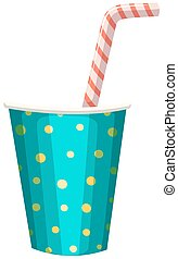 Party cup with straw