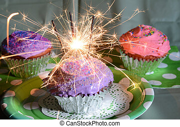 Party Cupcake Sparklers