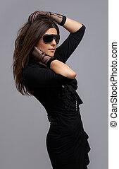 party dancer in black dress