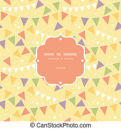 Party Decorations Bunting Frame Seamless Pattern Background...