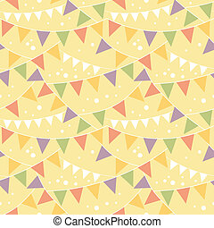 Party Decorations Bunting Seamless Pattern Background -...