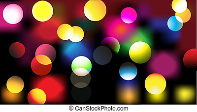 party design - illustration of disco lights dots pattern on...