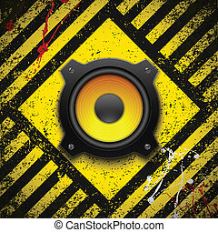 Party design element with speaker. Vector illustration