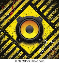 Party design element with speaker. Vector illustration