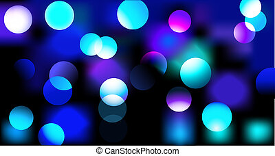 party design - illustration of disco lights dots pattern on ...