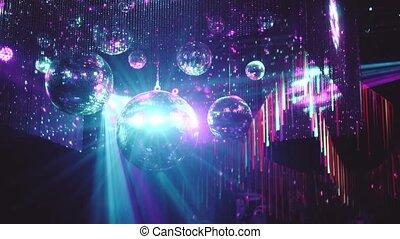 Party disco mirror balls - Beautiful mirror balls rotates...