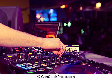 party DJ - nightclub parties DJ. sound equipment