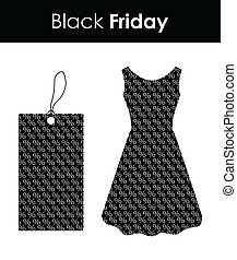party elements for woman with black friday design
