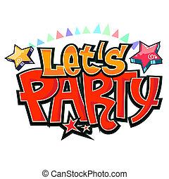 party, falfirkálás, vektor