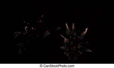 Party Fireworks Rockets at Night - Pyrotechnics in Terrassa,...
