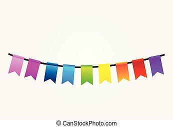 Party flags colorful celebration design
