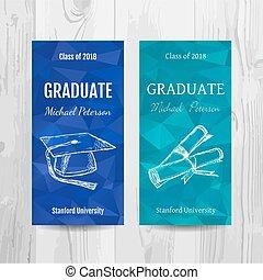 party, flyer., card., studienabschluss, einladung