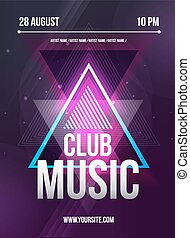 Party Flyer. Club music flyer. Dj lineup design. Vector...