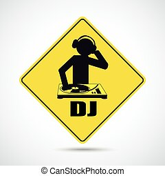DJ - Party flyer with DJ-Sign