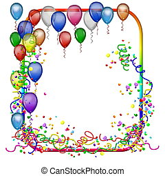 party frame with balloons