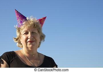 party, frau, birhtday