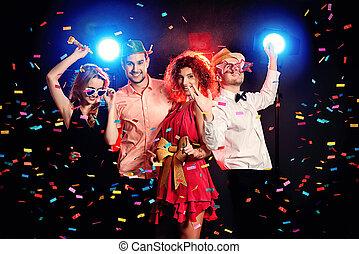 party, genießen
