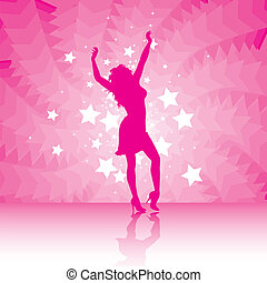 party girl silhouette dancing with the stars