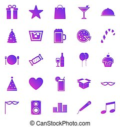 Party gradient icons on white background