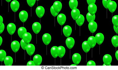 Party green balloons seamless video