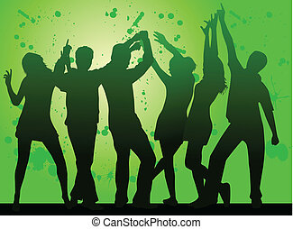 Party- grunge background
