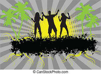 Party - grunge background