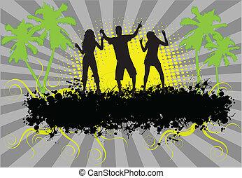 party,  -,  Grunge, hintergrund