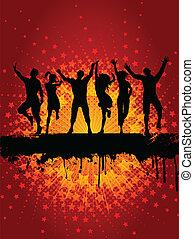 party,  Grunge, hintergrund