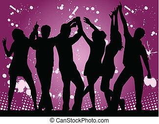 party-, grunge, hintergrund
