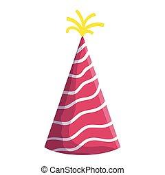 party hat cone decorative icon