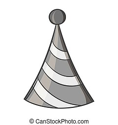 Party hat icon, black monochrome style