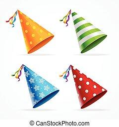 Party Hat Set. Vector