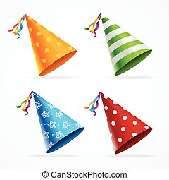 Party Hat Set. Vector