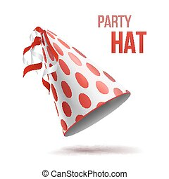Party Hat Vector. Holidays Decorative Accessory Hats Illustration
